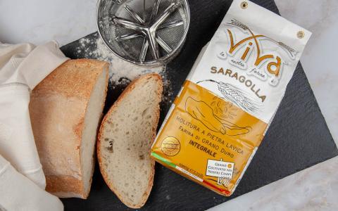 Farina di grano duro integrale saragolla w240